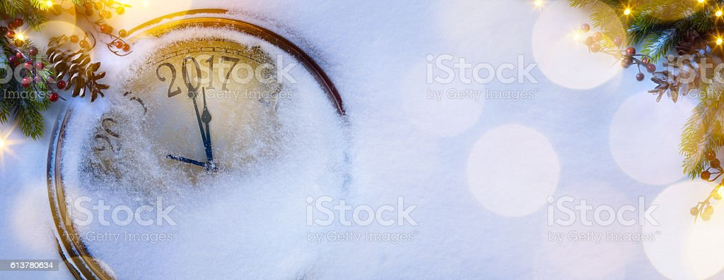 art Christmas and happy new years eve background; 2017 stock photo