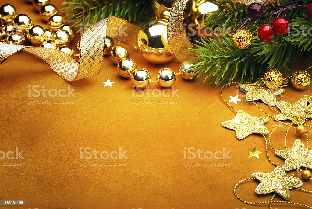 Art Christmas greeting card royalty-free stock photo