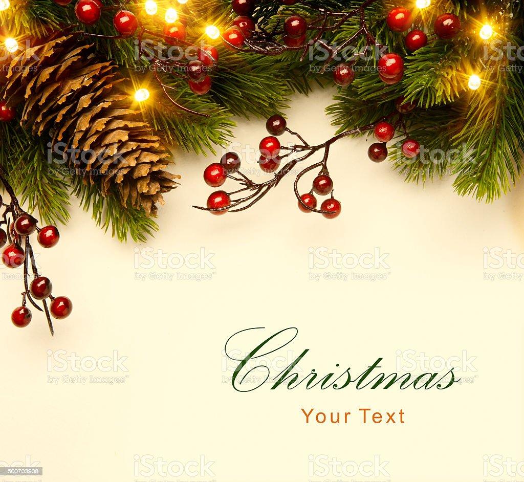 Art christmas tree light christmas background with fir branch art christmas tree light christmas background with fir branch royalty free stock photo sciox Images