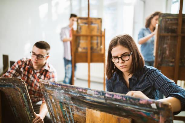 Kunst-Klasse in einem Studio! – Foto