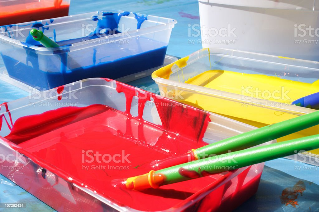art class: let the creativity begin royalty-free stock photo