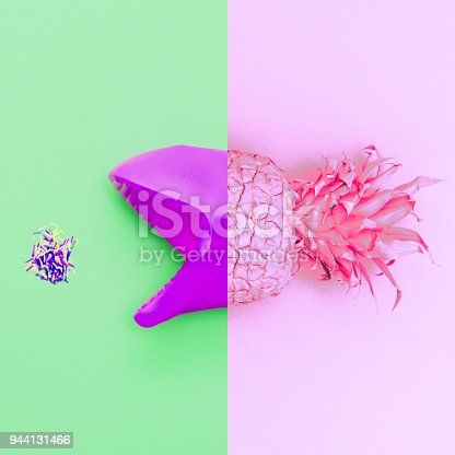 istock art collage of the pineapple mouth. 944131466