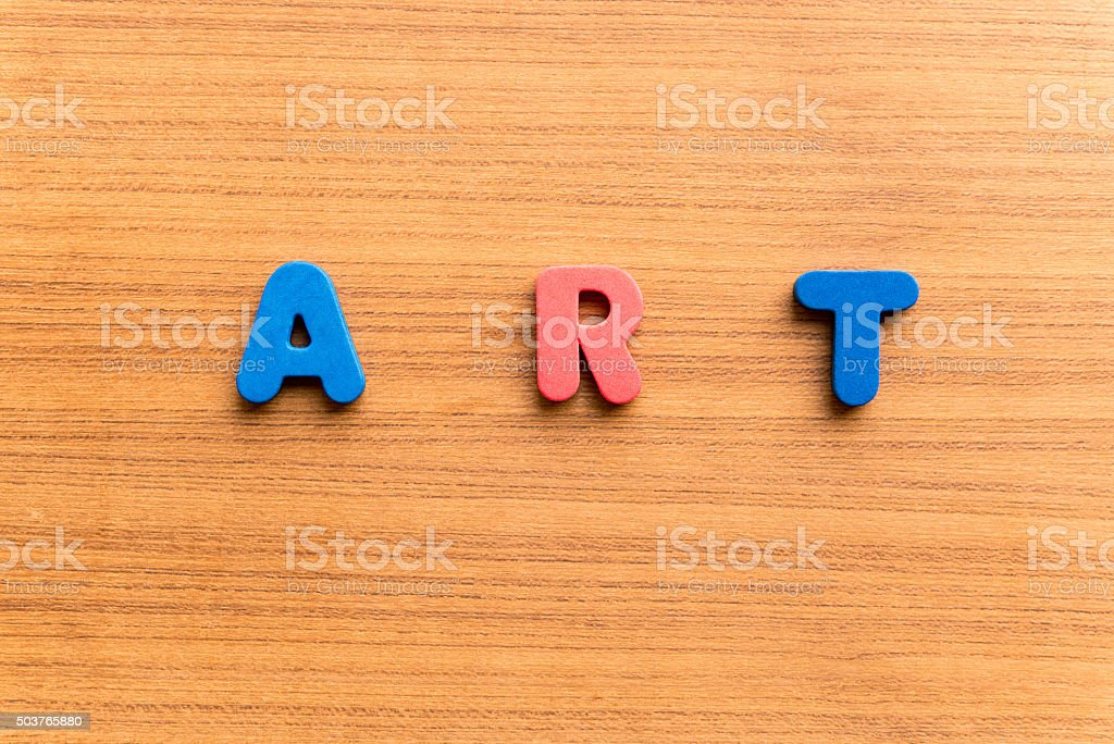 art colorful word stock photo
