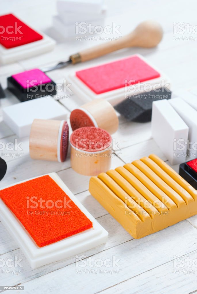 DIY art craft hobby tools stock photo