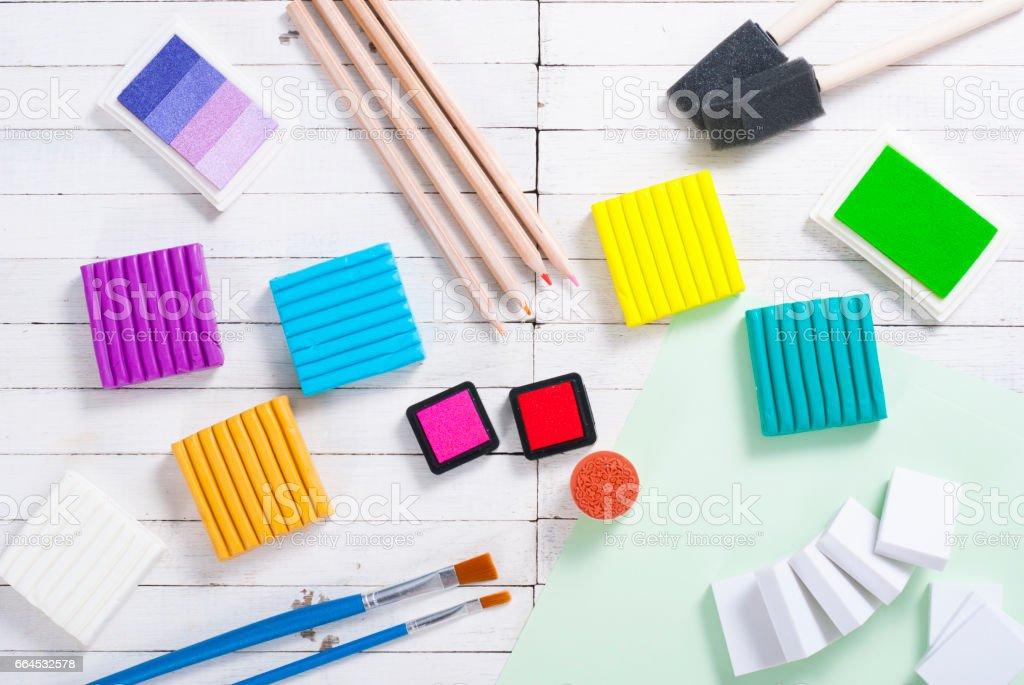 DIY art craft hobby tools royalty-free stock photo