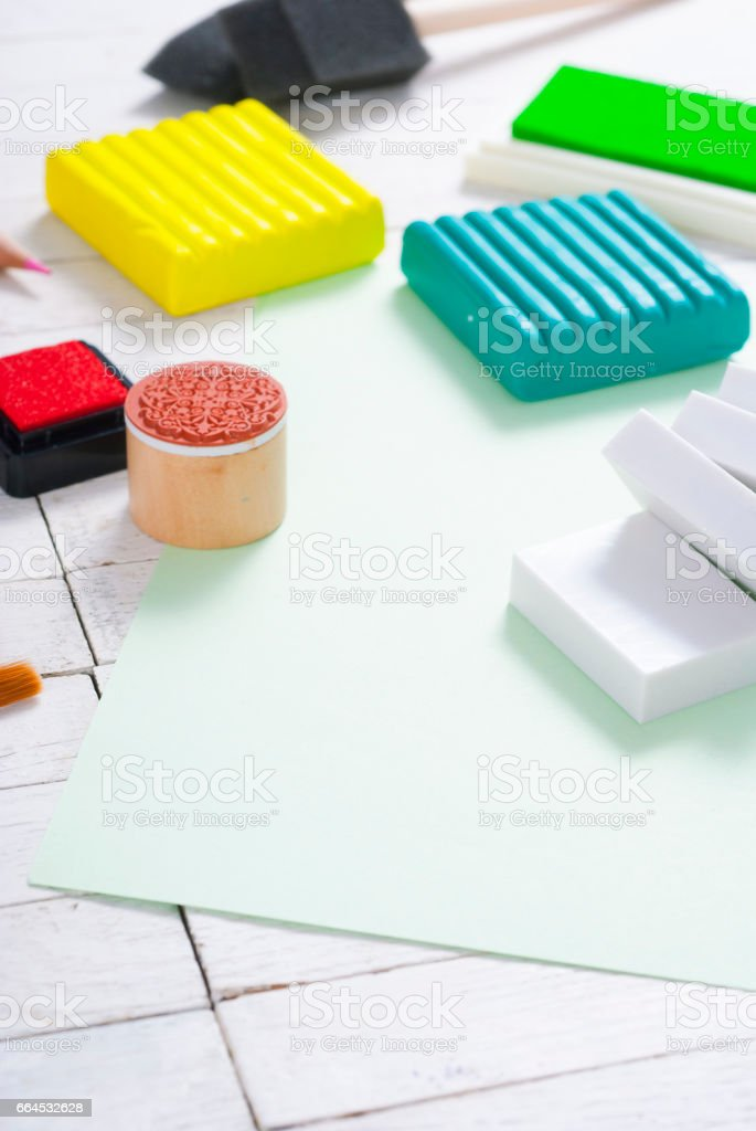 DIY art craft hobby tools royalty-free stock photo