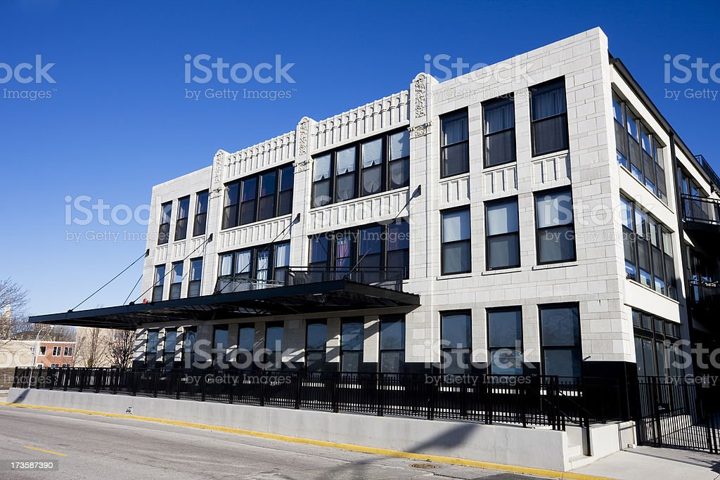 Art Deco Apartment Conversion in Chicago royalty-free stock photo