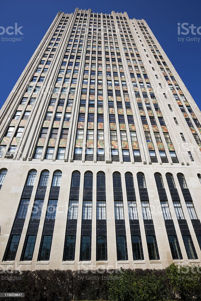 Art Deco Apartments in Chicago royalty-free stock photo