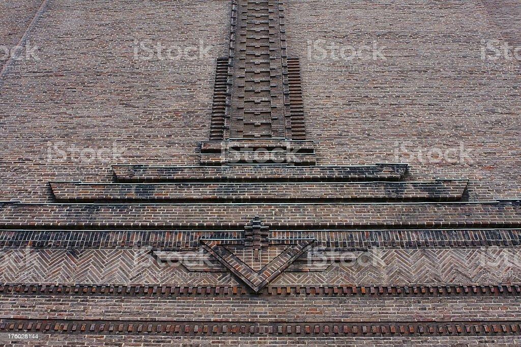 Art Deco brickwork stock photo