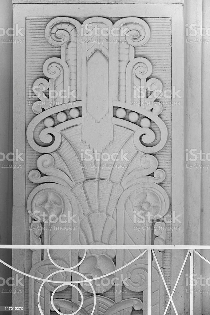 Art deco building detail (XL) royalty-free stock photo