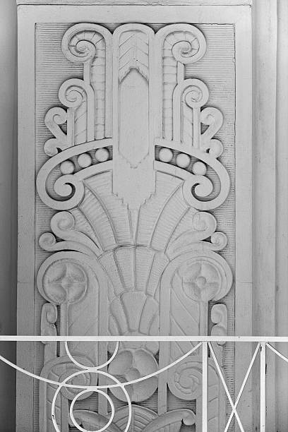 Art deco building detail (XL) stock photo