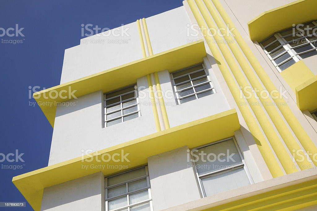 Art Deco Building, South Beach, Miami Florida, Architecture bildbanksfoto