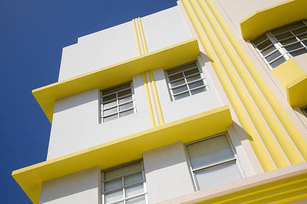Art Deco Building, South Beach, Miami Florida, Architecture stock photo