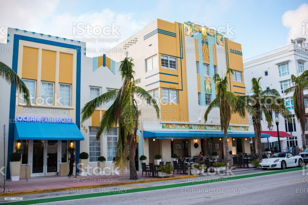Art Deco Buildings In Miami Beach Stock Photo Download Image Now Istock
