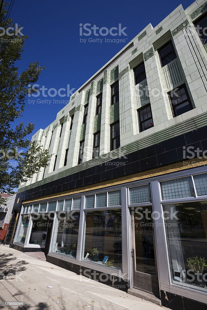 Art Deco Builing in Chicago royalty-free stock photo