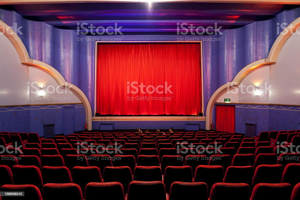 Art deco cinema royalty-free stock photo