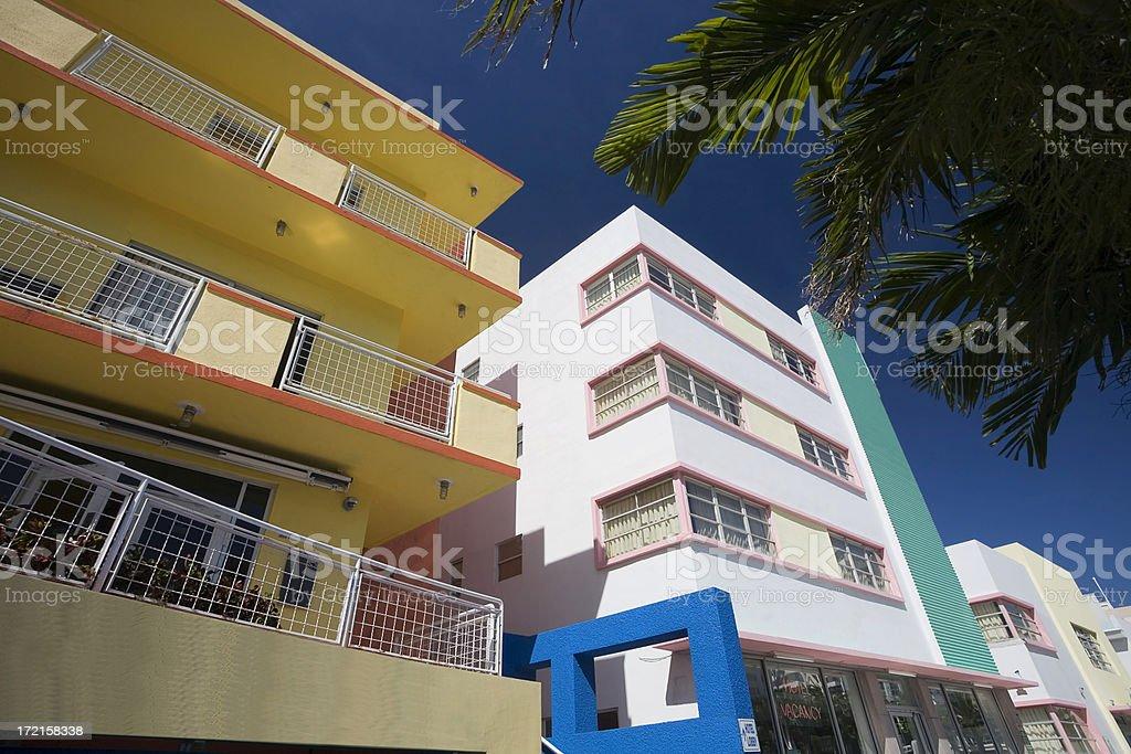Art Deco District royalty-free stock photo