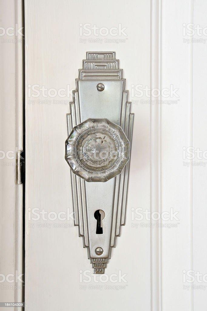 Art Deco Door Knob royalty-free stock photo