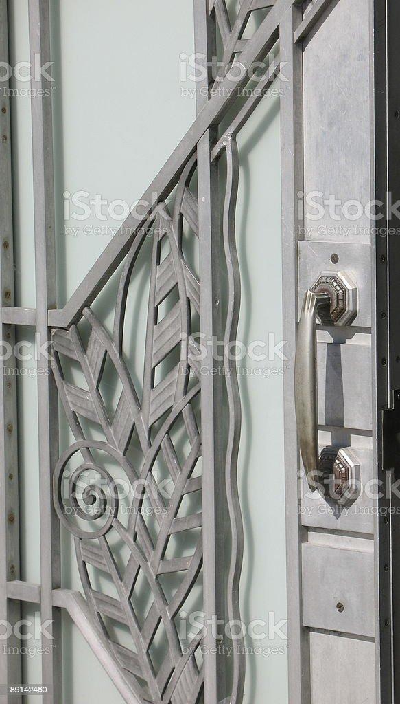 Art Deco door royalty-free stock photo