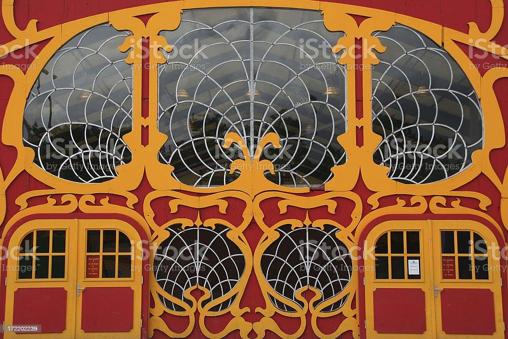 Art Deco Entrance royalty-free stock photo