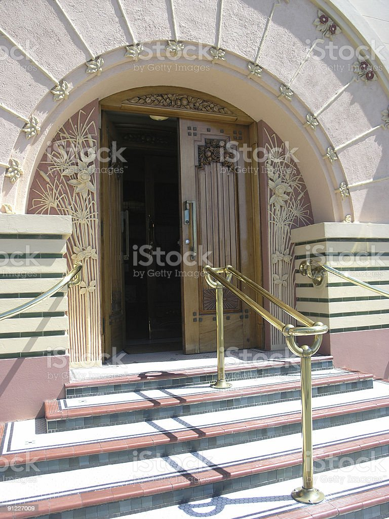 Art Deco Entrance stock photo