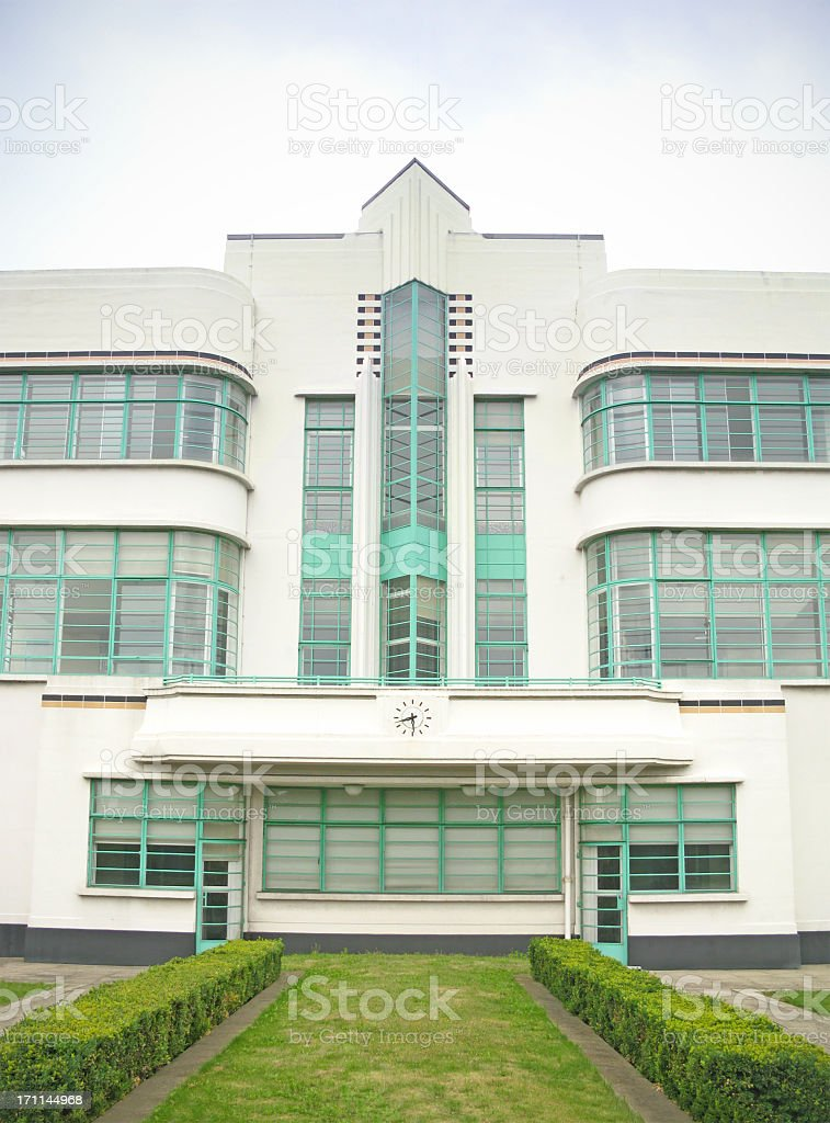 Art Deco factory from the early thirties. royalty-free stock photo