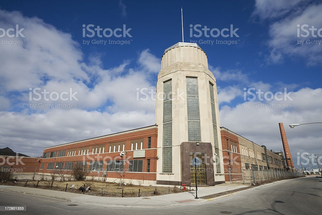 Art Deco factory in Garfield Park Chicago royalty-free stock photo