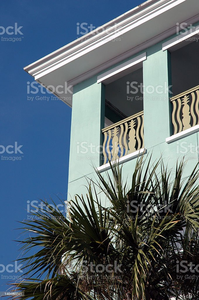 Art deco Florida building stock photo