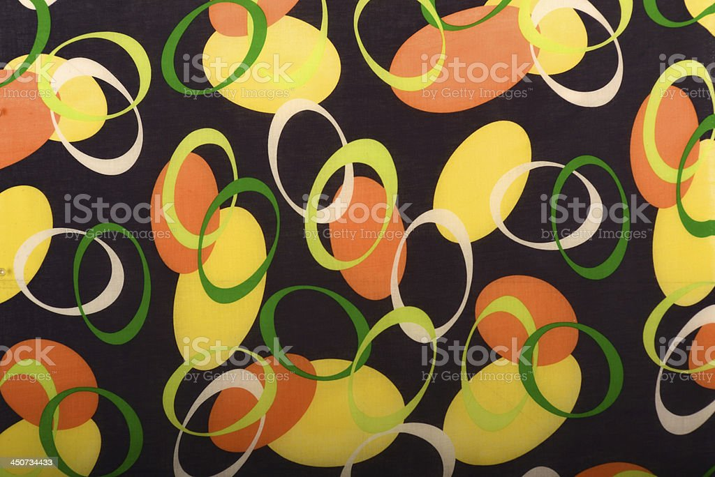 Art Deco Geometric Printed Cotton royalty-free stock photo
