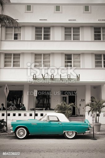 istock Art Deco hotels on Ocean Drive in South Beach Miami Florida USA 854226022