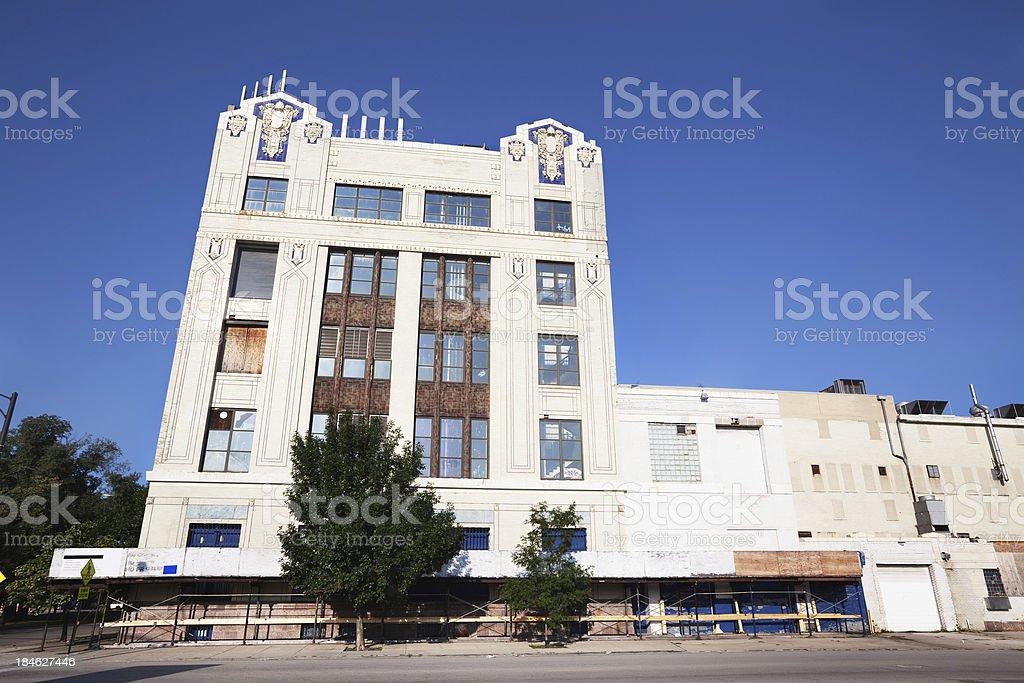 Art Deco landmark. Schulze Bakery in Washington Park, Chicago stock photo
