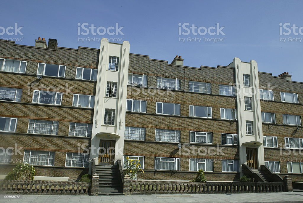 Art Deco London Apartments royalty-free stock photo