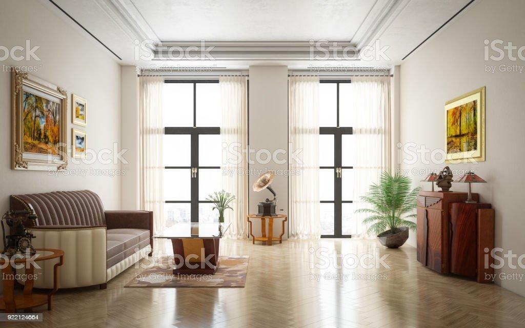 Art Deco Luxury Living Room   Stock Image .