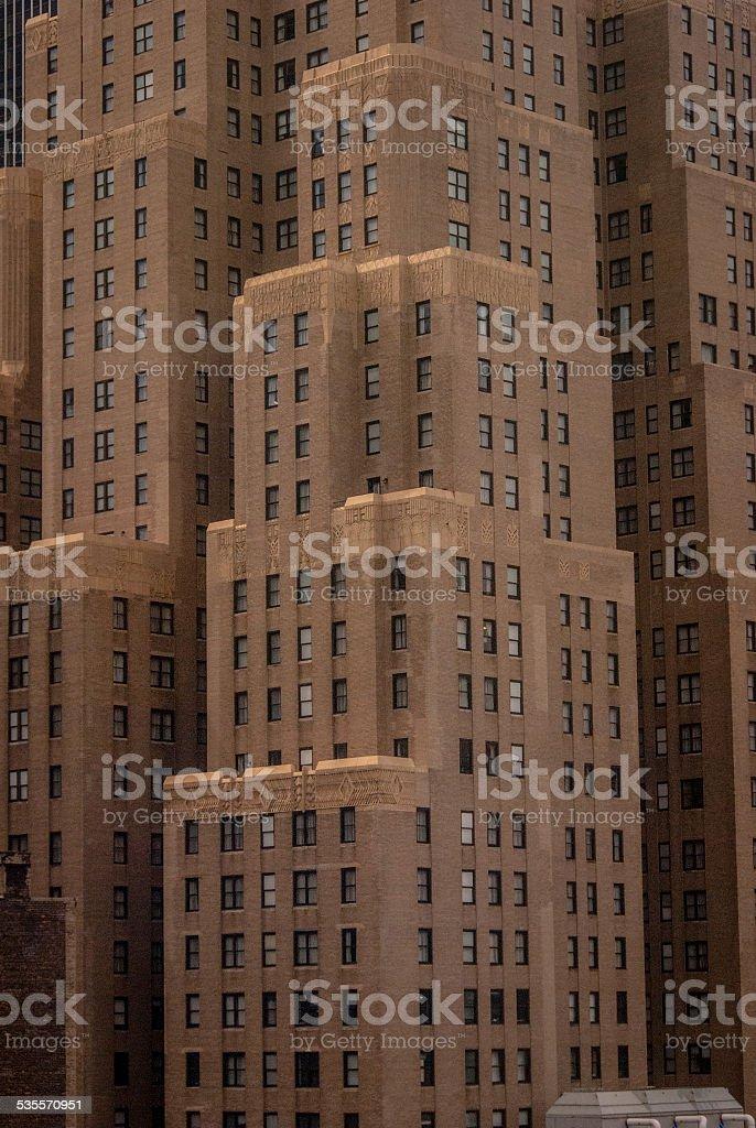 Art Deco NYC Building stock photo