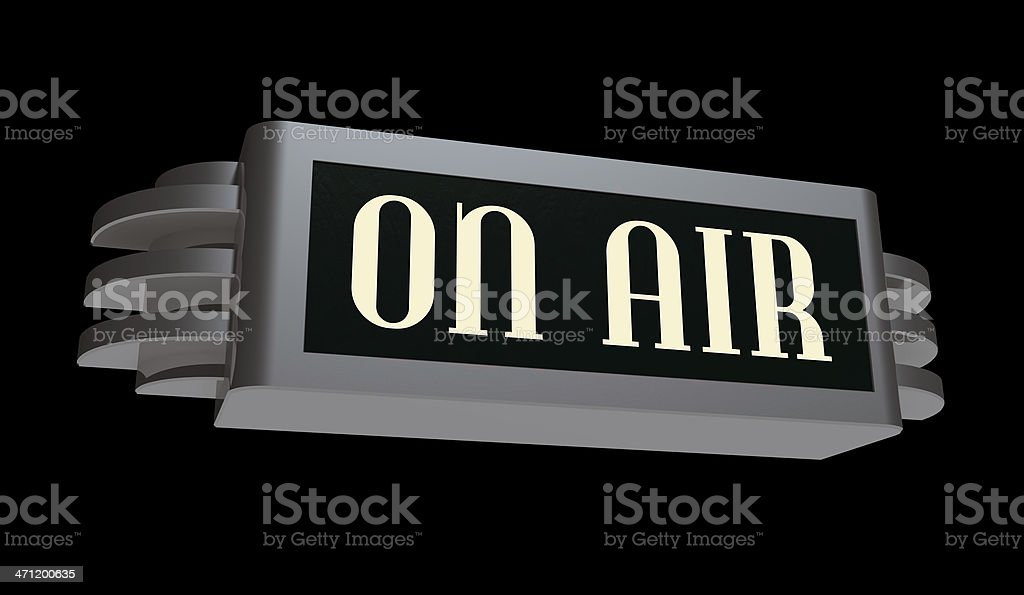Art Deco On Air Sign Stock Photo - Download Image Now - iStock