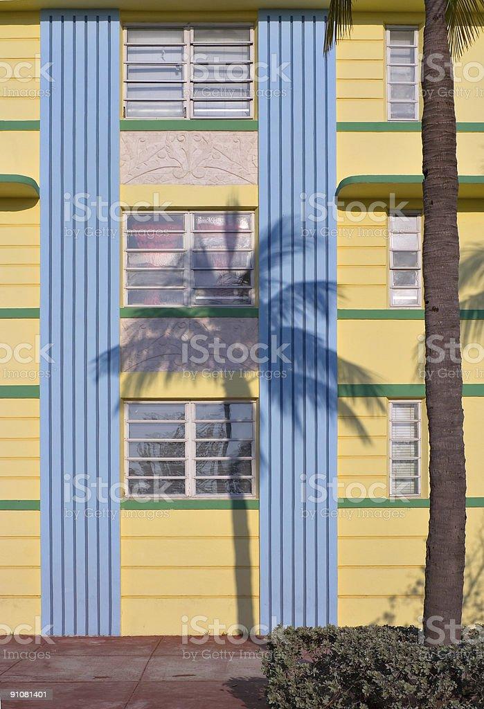 Art Deco Palm Shadow royalty-free stock photo