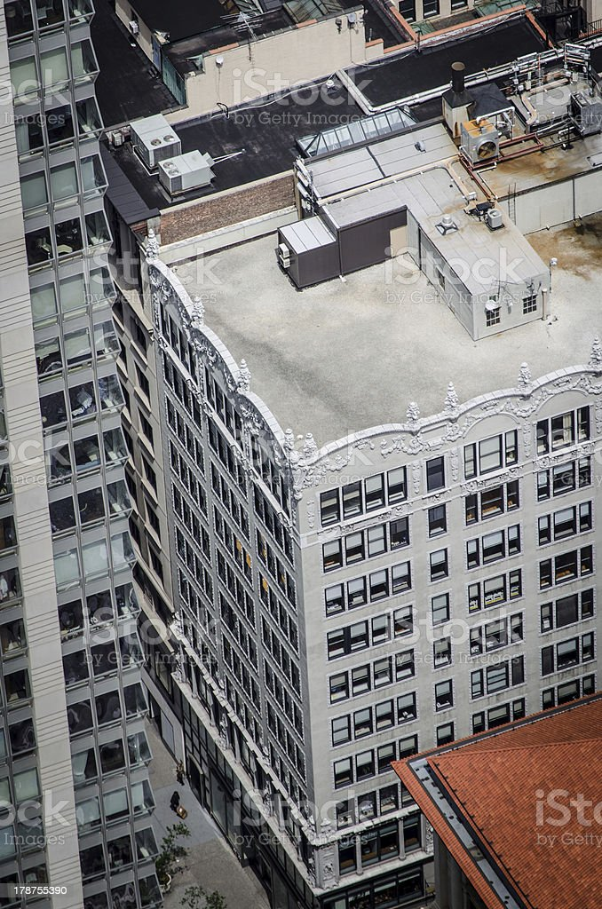 Art Deco rooftop in New York City royalty-free stock photo