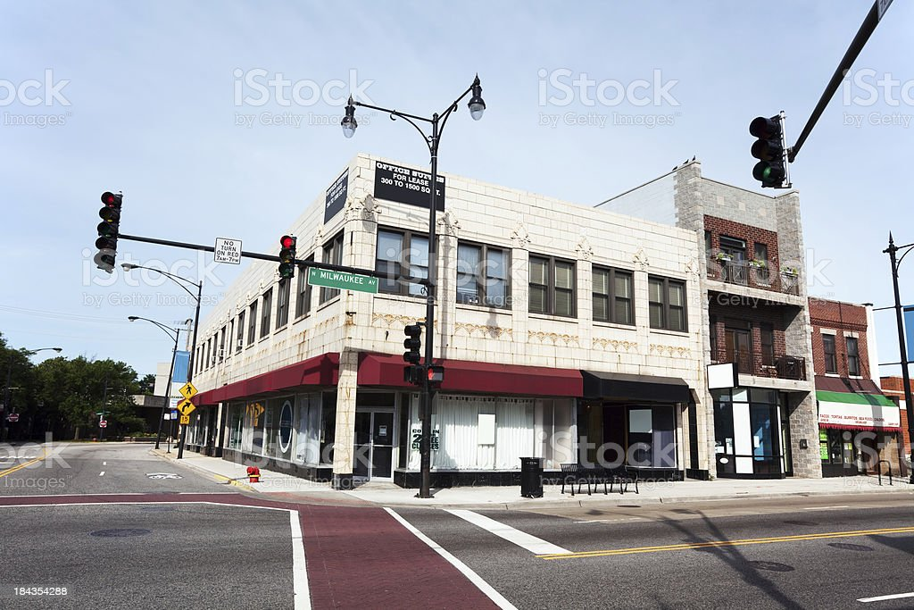 Art Deco Shop in a Chicago Neighborhood royalty-free stock photo