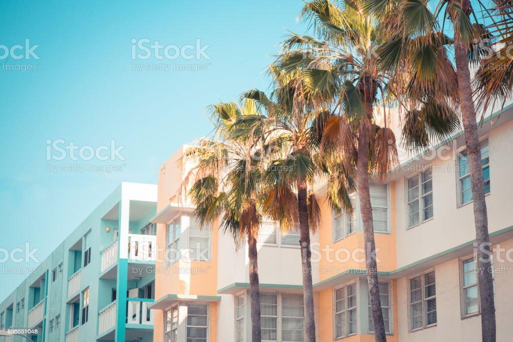 Art Deco South Beach Miami royalty-free stock photo