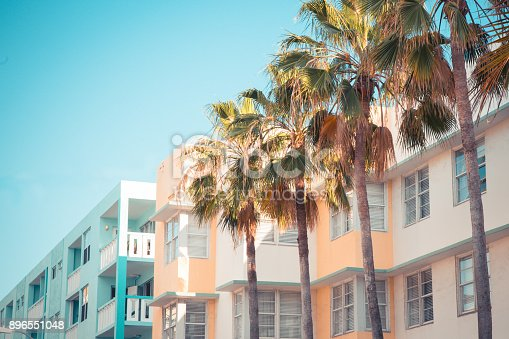 istock Art Deco South Beach Miami 896551048