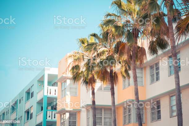 Art Deco South Beach Miami Stock Photo - Download Image Now