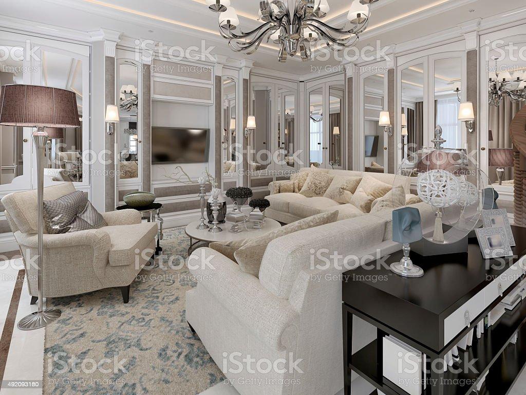 Artdécostil Mit Wohnzimmer Stockfoto und mehr Bilder von ...