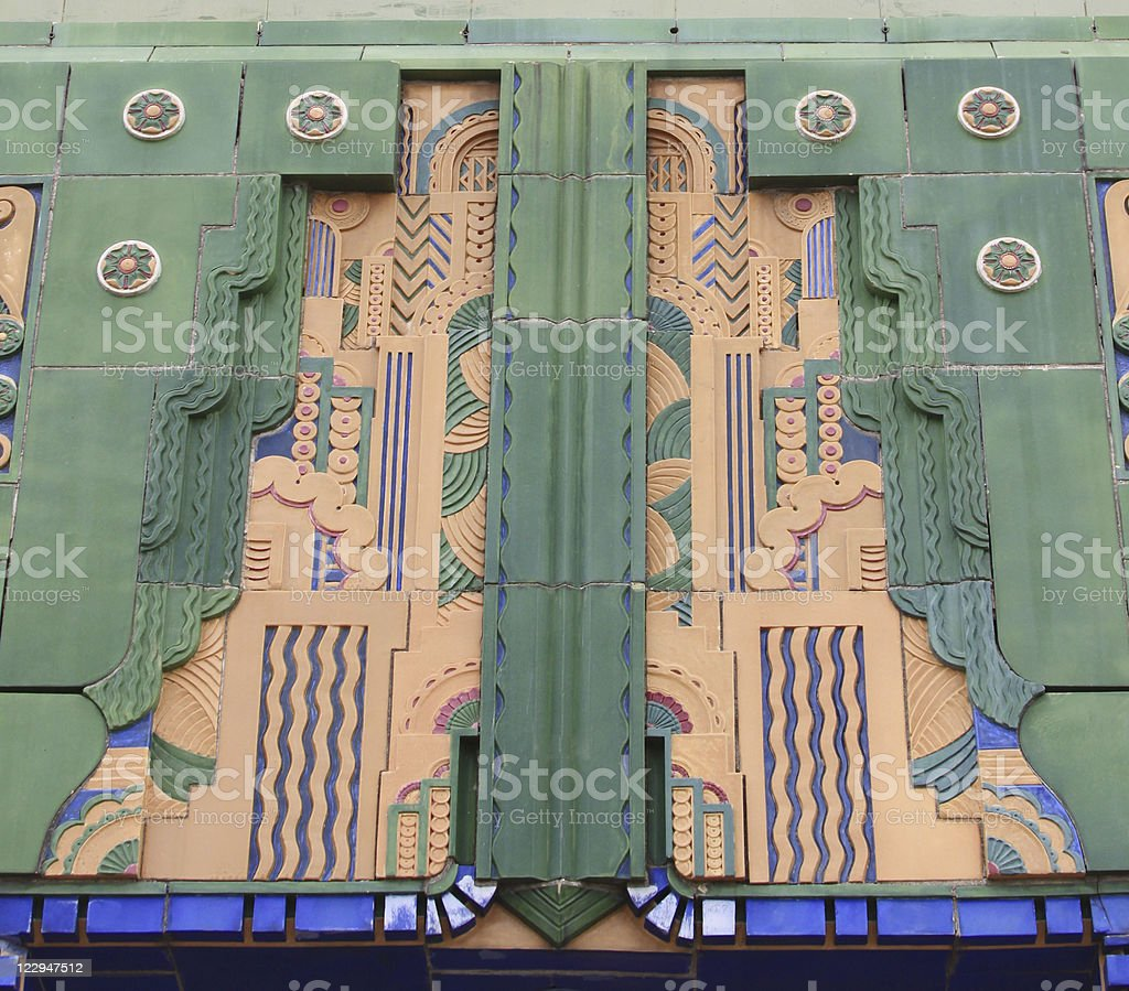 Art Deco Tile Building Facade stock photo