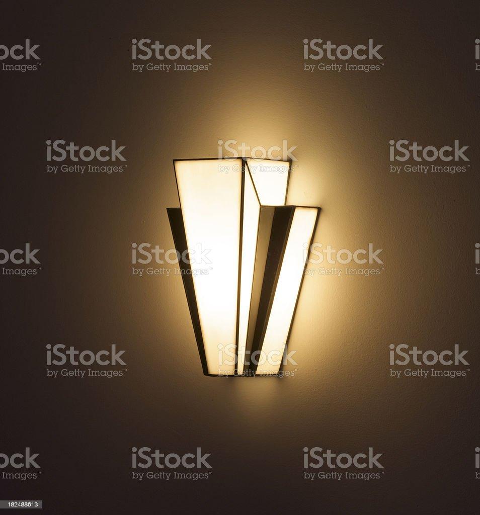 Art Deco wall light facing left royalty-free stock photo