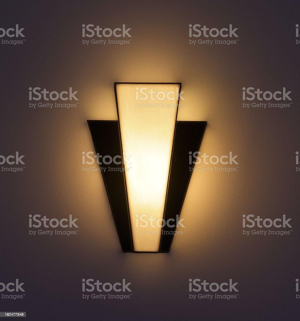 Art Deco wall light stock photo