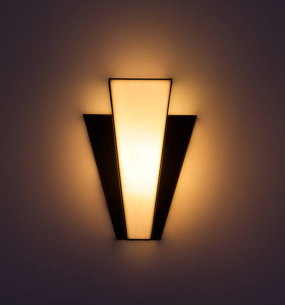 Art Deco wall light stock photo