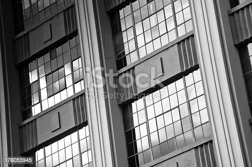 istock Art Deco Warehouse - Black and White 176053945