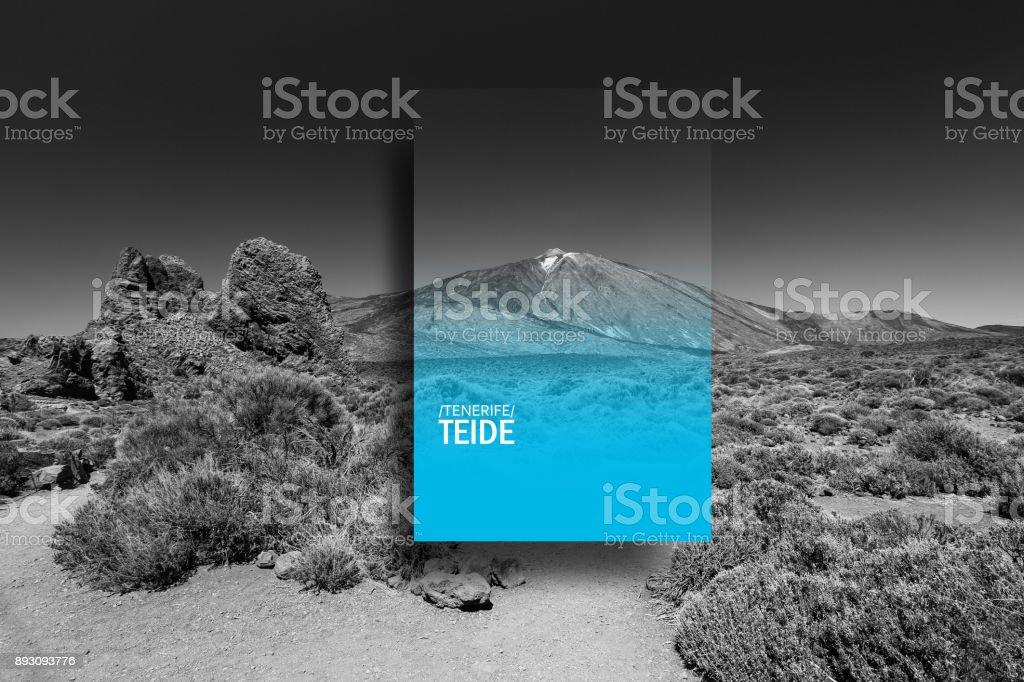 Art desighn of hills in Canary Islands stock photo