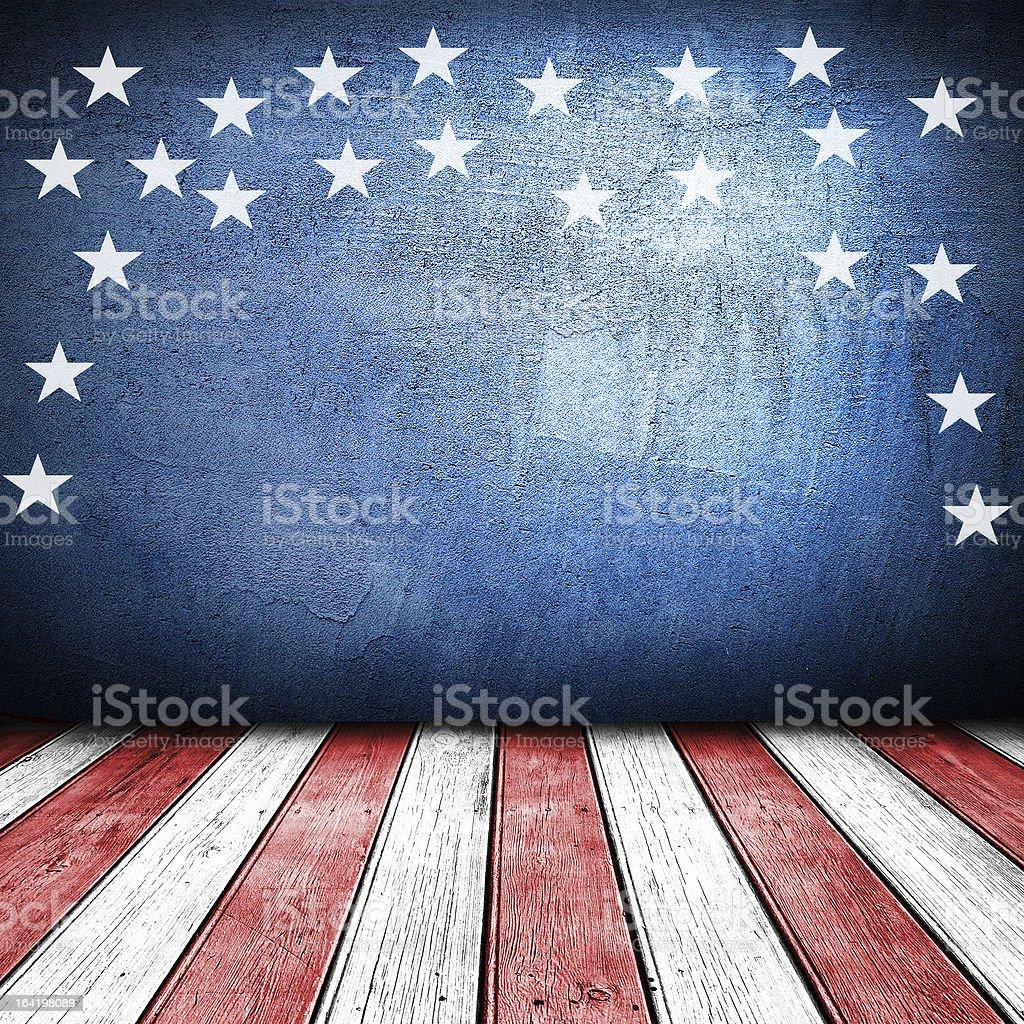 USA art design on stylized stage stock photo