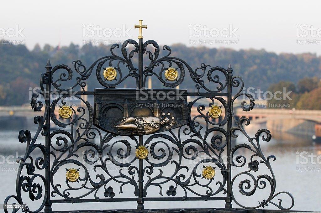 art details of Charles Bridge -  Prague royalty-free stock photo